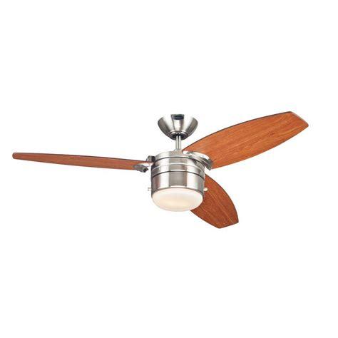 ceiling fans brushed nickel westinghouse lavada 48 in brushed nickel indoor ceiling
