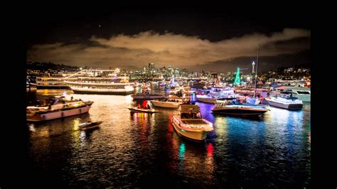 christmas in seattle ships events lights installation - Seattle Christmas Boat Parade 2017
