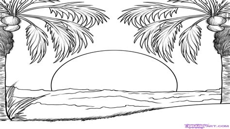 sunset coloring pages sunset free coloring pages
