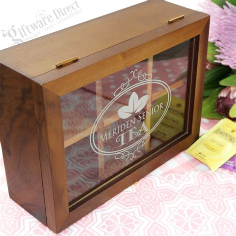 holiday wood storage box ideas personalised wooden tea box tea bag caddy engraved gift