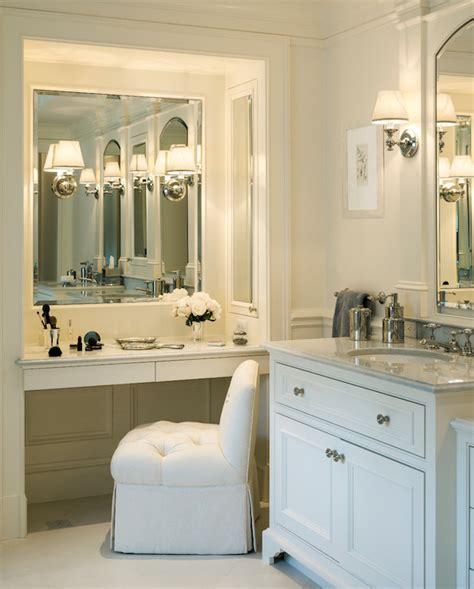 bathroom with makeup vanity built in makeup vanity traditional bathroom jan