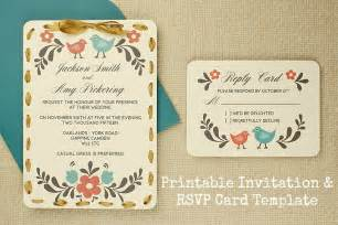 diy tutorial free printable invitation and rsvp card template boho weddings for the boho luxe
