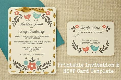 diy tutorial  printable invitation  rsvp card template boho weddings   boho luxe