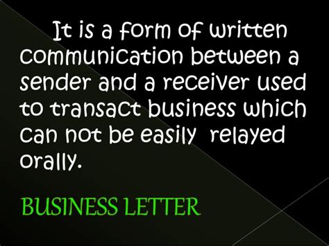 Letter Definition In Business Communication business letters definition and purpose