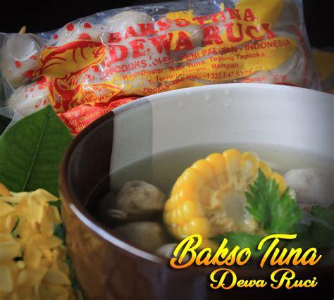 bakso terbuat  ikan laut tuna segar  ddiolah