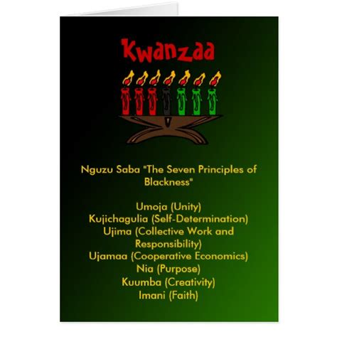 kwanzaa greeting cards printable kwanzaa cards zazzle