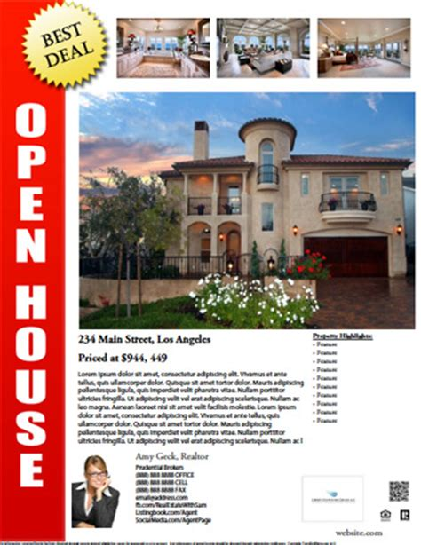 real estate open house flyer template real estate flyer templates gallery
