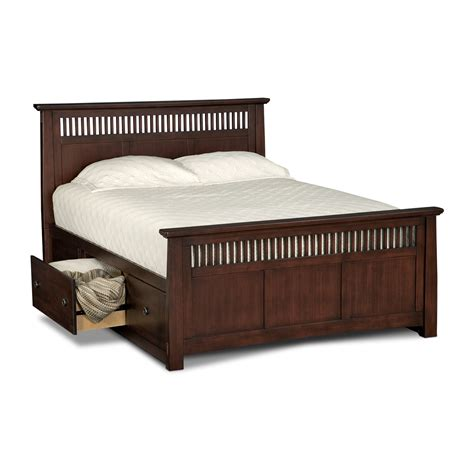 queen storage bedroom sets american signature arts and crafts bed