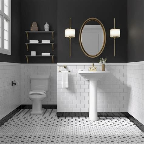 subway tile in bathroom ideas 2018 black and white remains a timeless color scheme for a bathroom the mix of white subway
