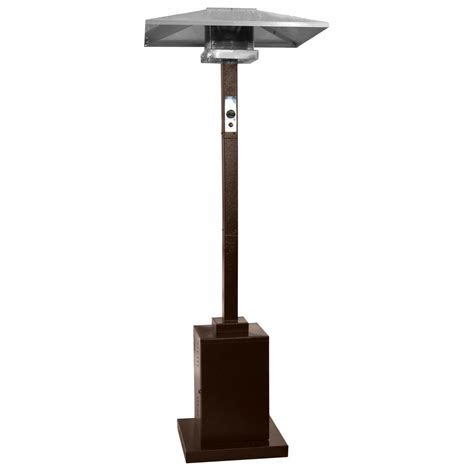 Gas Patio Heater Az Patio Heaters 41 000 Btu Commercial Hammered Bronze Gas Patio Heater Hs Hg The Home Depot