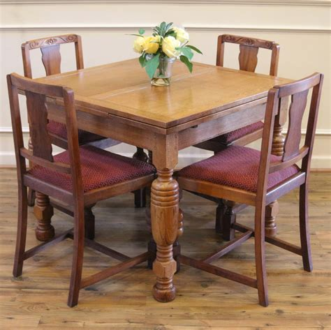 pub table with leaf and chairs antique oak pub table and 4 chairs dining set for
