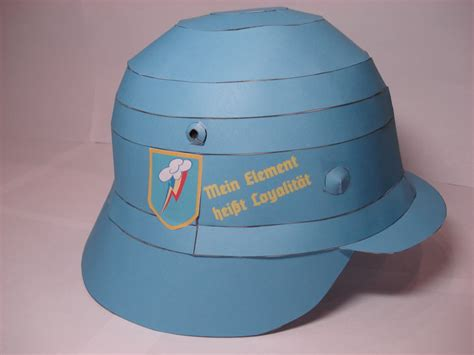 Helmet Papercraft - rainbow dash combat helmet papercraft by rocketmantan on