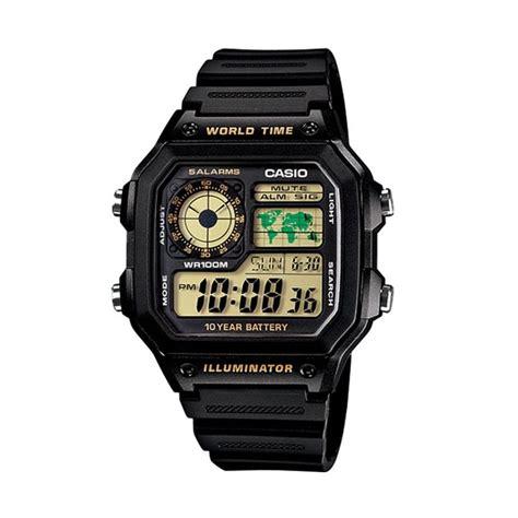 Jam Tangan Pria Wanita Casio Ae 1300wh Hitam Pink Original jual casio jam tangan pria hitam ae 1200wh 1bvdf harga kualitas terjamin blibli