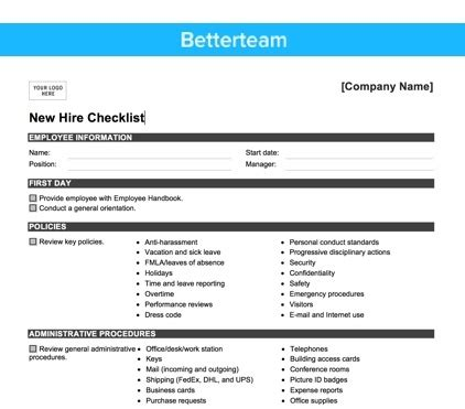 employee starter form template choice image template