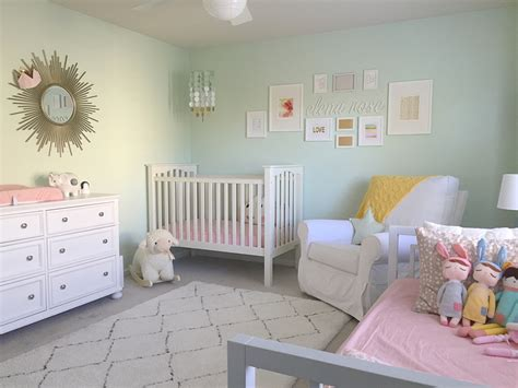 s mint and pink nursery project nursery