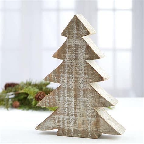 rustic wood tabletop christmas tree table decor home decor