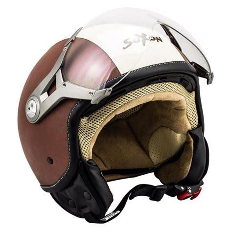 Jet Helm Aufkleber soxon sp 325 vintage casque jet demi jet moto pilot