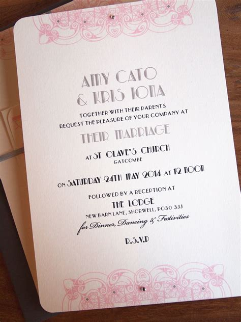 deco wedding stationery uk deco wedding invites paper pleasures wedding stationery