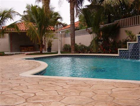 revive  pool deck  decorative concrete port