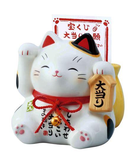 Maneki Neko Fortune Cat japan beckoning cat maneki neko lucky piggy bank right for money 7331 ebay