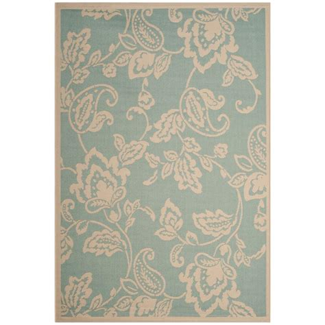 Martha Stewart Indoor Outdoor Rugs Safavieh Martha Stewart Aqua Beige 4 Ft X 5 Ft 7 In Indoor Outdoor Area Rug Msr4182 21321 4