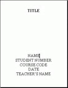 How To Write A Title For An Essay by Write Cover Sheet Term Paper