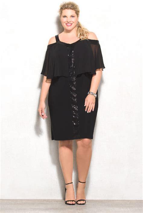 dress barn website dressbarn plus size sequined cold shoulder dress plus