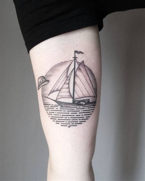 minimalist tattoo boat minimalist sailboat tattoo tattoo ideas pinterest