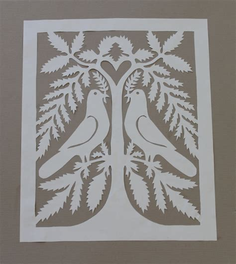 Cut Paper Crafts - paper cutting attempt