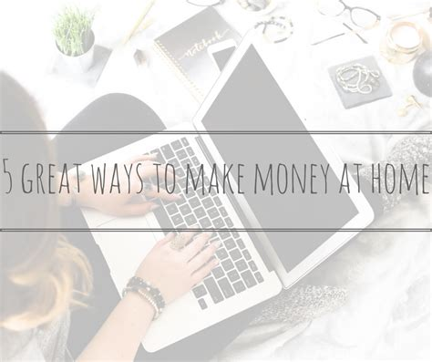 5 great ways to make money at home thriftymum
