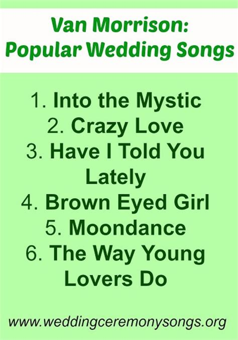 Wedding Song List For Ceremony by Morrison Popular Wedding Songs Wedding Ceremony Songs