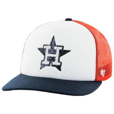 47 brand houston astros mlb glimmer snapback baseball cap
