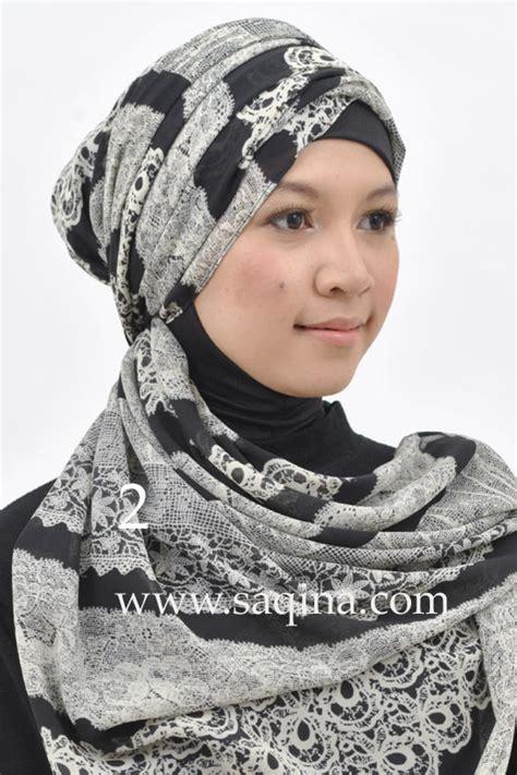 Kerudung Motif trend kerudung motif saqina daily wear