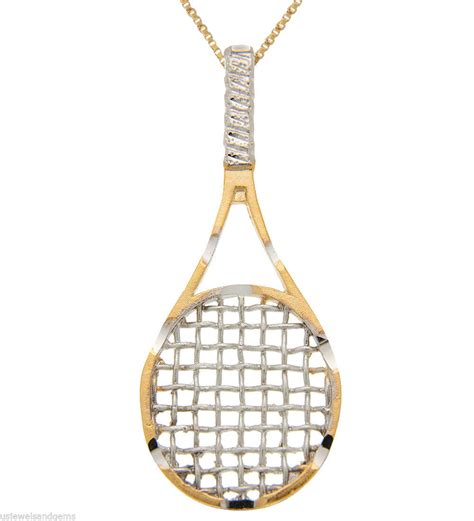 sterling silver gold plated tennis racquet sports