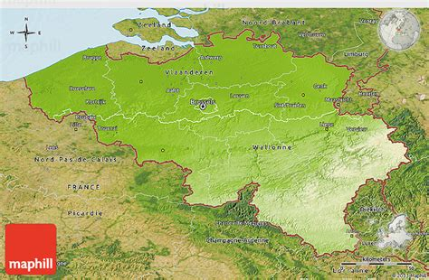 geographical map of belgium physical 3d map of belgium satellite outside shaded