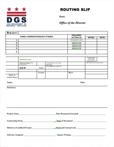 routing form template dgs branding dgs