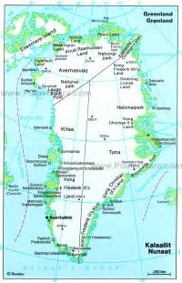 greenland administrative detailed map administrative