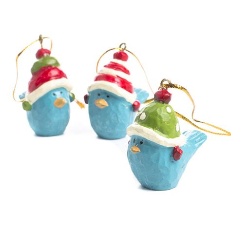 paper clay holiday bluebird ornaments birds