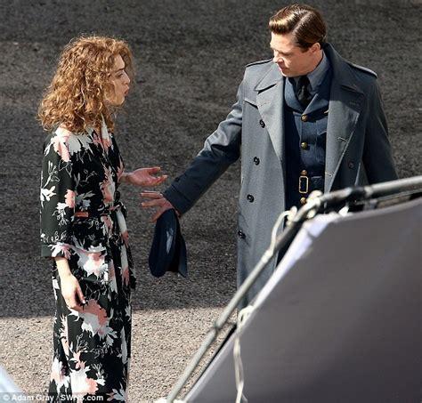 Film Romance Nazi | brad pitt shoots emotionally charged scenes for world war