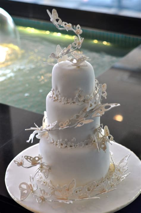Butterfly Wedding Cake by Delicious Cakes By Nell Butterfly Wedding Cake