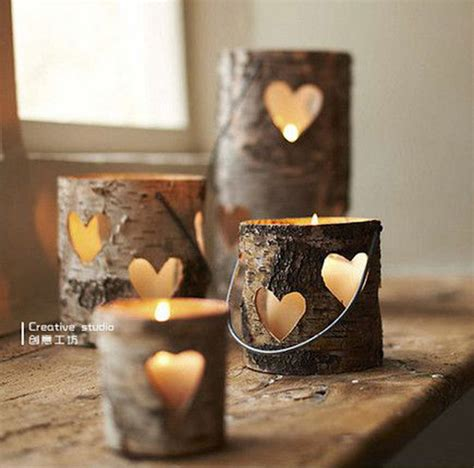 Fireplace Log Candle Holder by 8 Easy Diy Wood Candle Holders For Some Rustic Warmth This