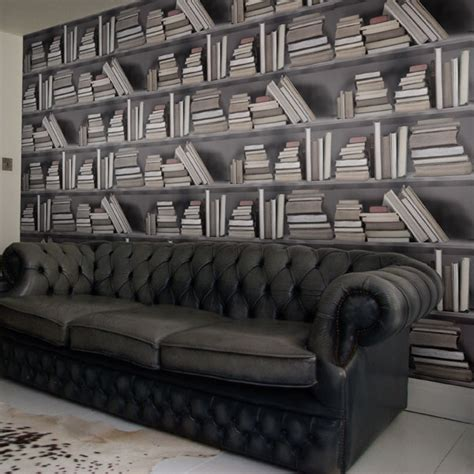 bookshelf wallpaper idesignarch interior design
