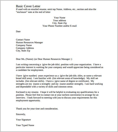 cover letter for a template cover letter template 20 free word pdf documents