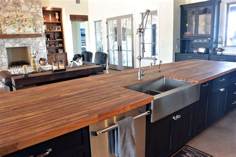 How To Finish Wood Countertops In Kitchen by Reclaimed Boxcar Flooring Wood Countertop Photo Gallery