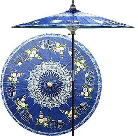 asian patio umbrella asian elephants china sea blue outdoor patio umbrella