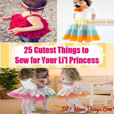 25 things to sew in 25 cutest things to sew for your li l princess diy home