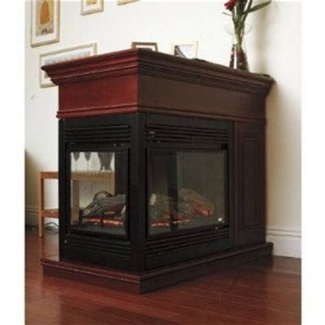 Three Sided Electric Fireplace by Beautiful 3 Sided Peninsula Electric Fireplace With