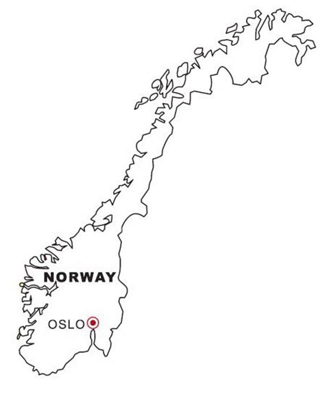 norway map coloring page coloring map of norway color area