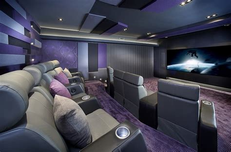 Home Cinema Interior Design by Montreal Home Theater Contemporary Home Theater