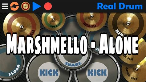 real drum cover tutorial marshmello alone real drum cover youtube